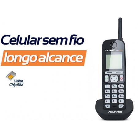 Telefone Celular de Mesa Sem Fio Ca-45 - Aquário