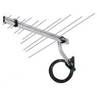 Antena Externa p/ TV - Longo Alcance - UHF VHF HD FM - Completa